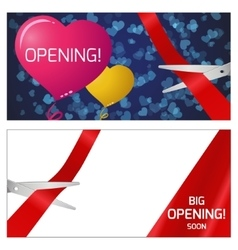Opening - scissors and tape vector