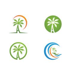 Palm tree logo template vector
