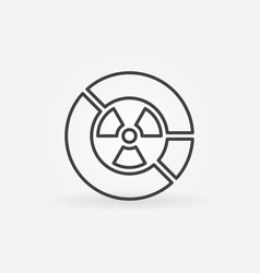 Radiation diagram icon vector