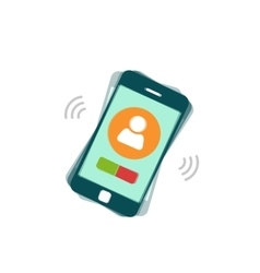 Ringing mobile phone calling or vibrating vector image