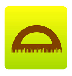 Ruler sign brown icon at vector