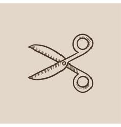 Scissors sketch icon vector image