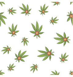 seamless texture medical marijuana four vector image vector image