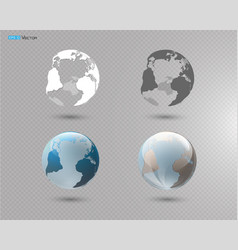 set of different globes vector image