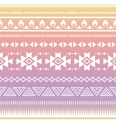 Tribal aztec ombre seamless pattern vector