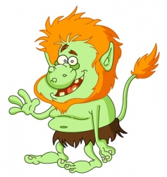 troll vector image