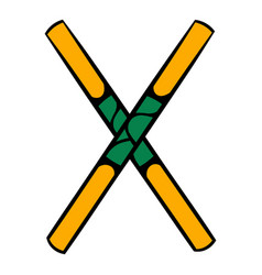 Wooden sword bokken icon icon cartoon vector