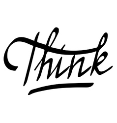 word Think vector image vector image