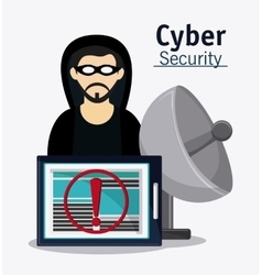 Cyber security hacker esign vector