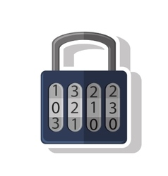 Isolated padlock of security system design vector