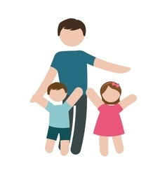 father and children icon image vector image