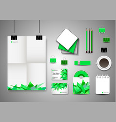 corporate identity template business stationery vector image