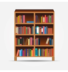 Bookcase icon vector