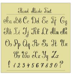 handwriting alphabets hand drawn fonts vector image