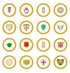 Shield icon circle vector