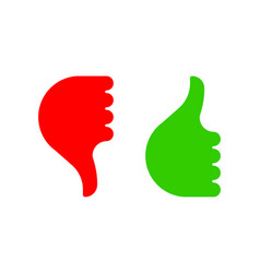 Hand gesture with thumb up and down color icon vector