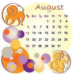 2012 calendar august vector image