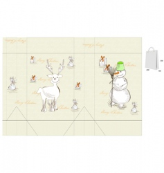 template for Christmas bag vector image