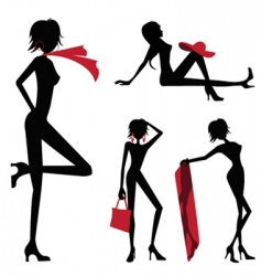 beauty women vector image