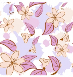 Seamless floral pattern in pas vector