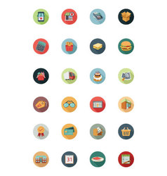 Shopping flat colored icons 1 vector
