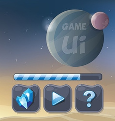 Game ui design elements vector