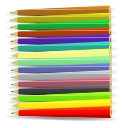 Set of colorful pencils vector