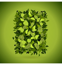 Abstract bright green leaves background vector