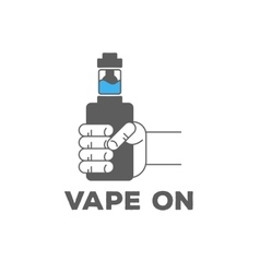Monochrome logo or icon of an electronic cigarette vector