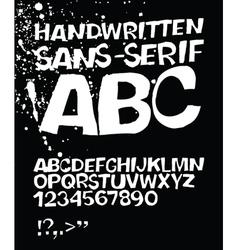 Handwritten abc on black vector