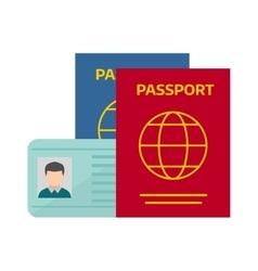 Passport with tickets vector