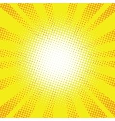 Yellow rays pop art retro comic background vector image