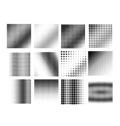 an abstract black and white halftone background vector image