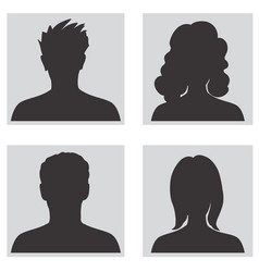 avatar set people profile silhouettes vector image vector image