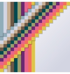 Background with Squares and Stripes vector image vector image