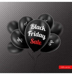 Black Friday Black balloons vector image