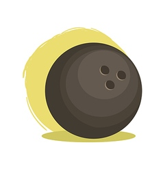 Bowling ball sport vector
