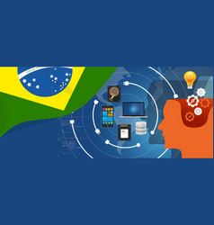brazil it information technology digital vector image