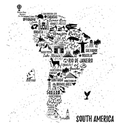 Cartoon map vector