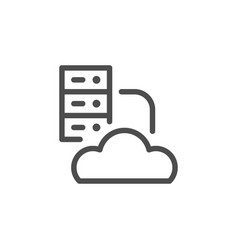 cloud hosting line icon vector image