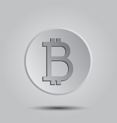 Crypto currency bitcoin logo icon for web vector