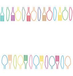 cutlery menu vector image