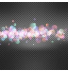 Defocused christmas lights background eps 10 vector