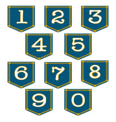 denim pocket numbers vector image
