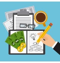Financial calculations vector