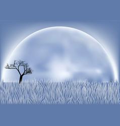 fool moon vector image vector image