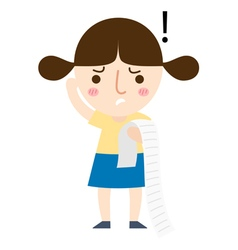 Girl read note vector