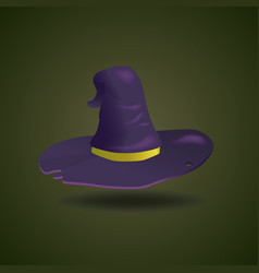gradient element cartoon witch hat for halloween vector image