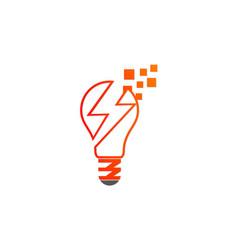 Lightbulb energy electric logo vector