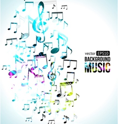 Music Background Note Design vector image vector image